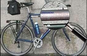 fiets graveren